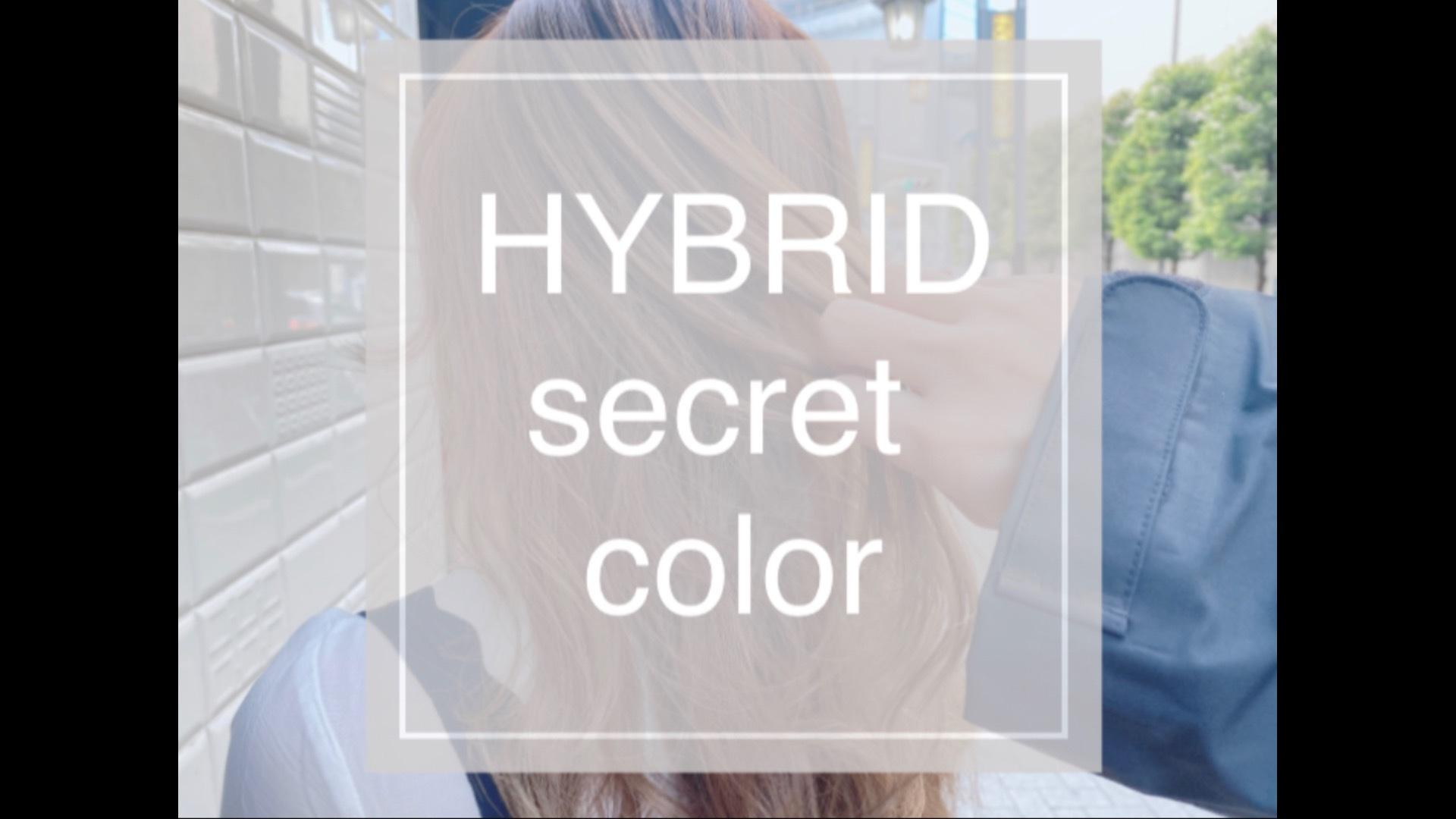 HYBRID secret colorのやり方