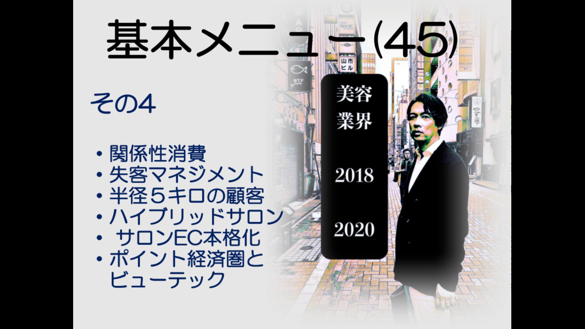 基本メニュー(45) 美容業界2018−2020 その4